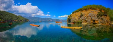 beautiful landscape of the lake in the mountains