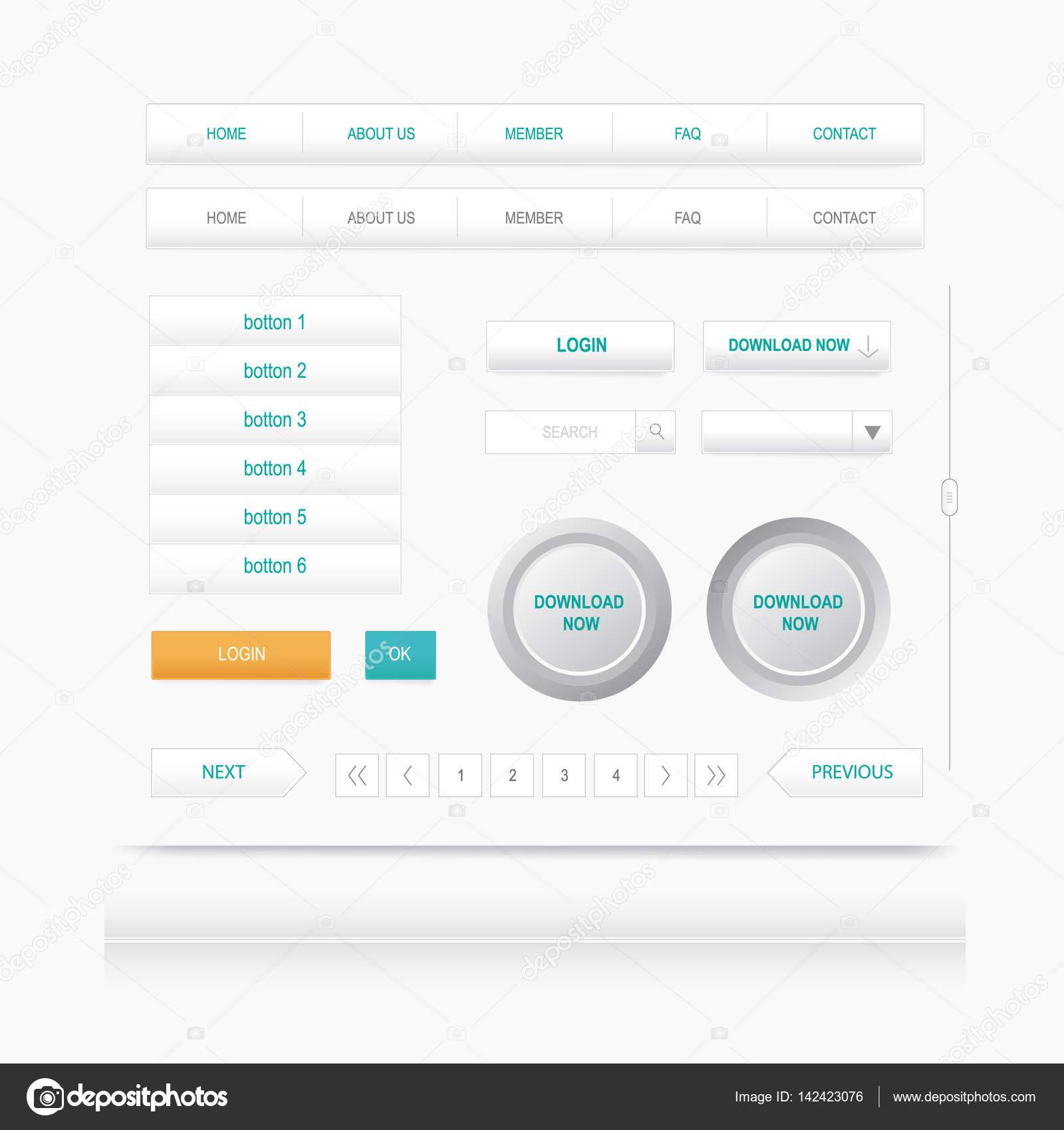 Conjunto de elementos web boto de menu de navegao do site conjunto de elementos web boto de menu de navegao do site modelo de design ccuart Gallery