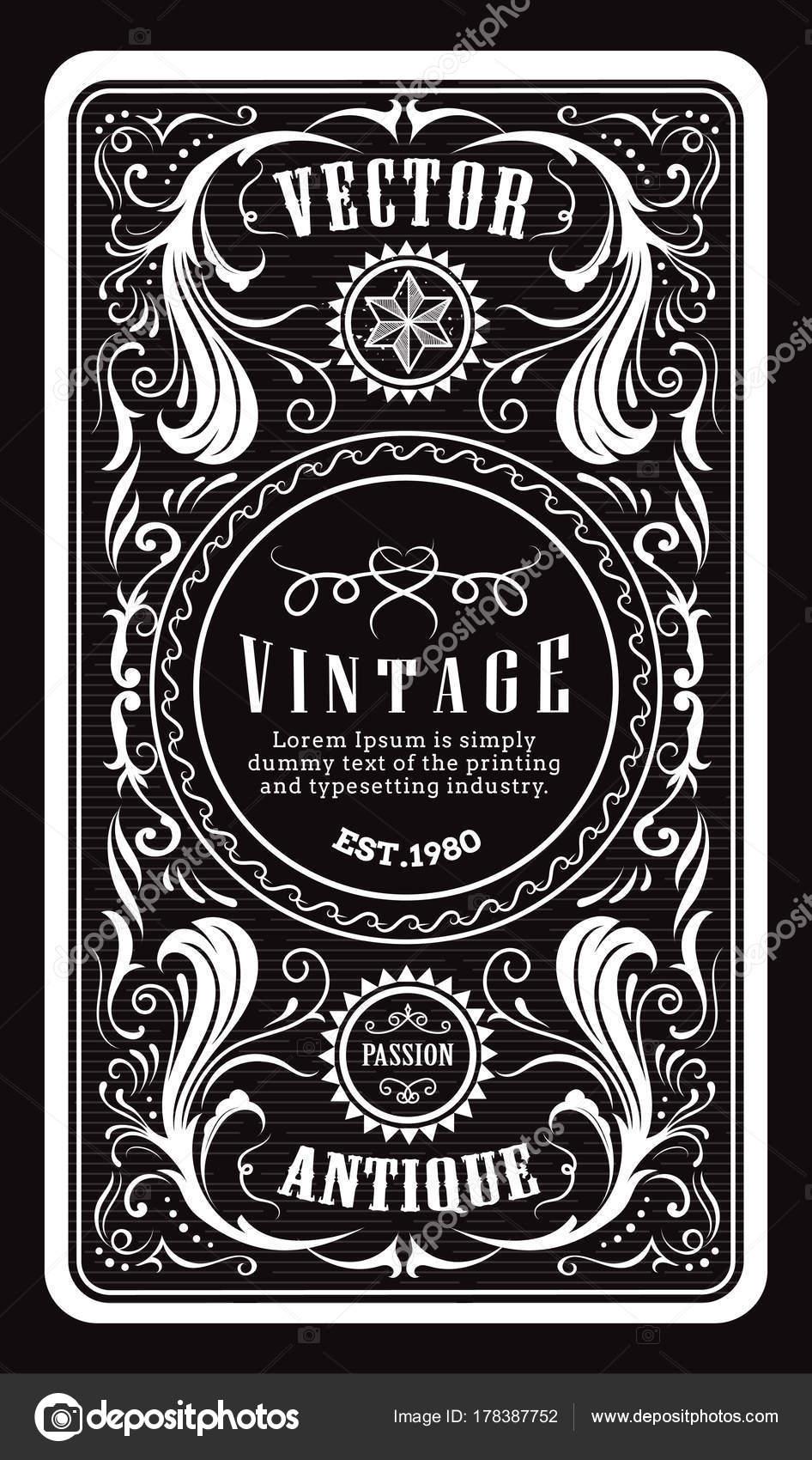 antique engraving vintage frame border western label retro hand drawn vector illustration u2014 vector by nimaxs antique e50 antique