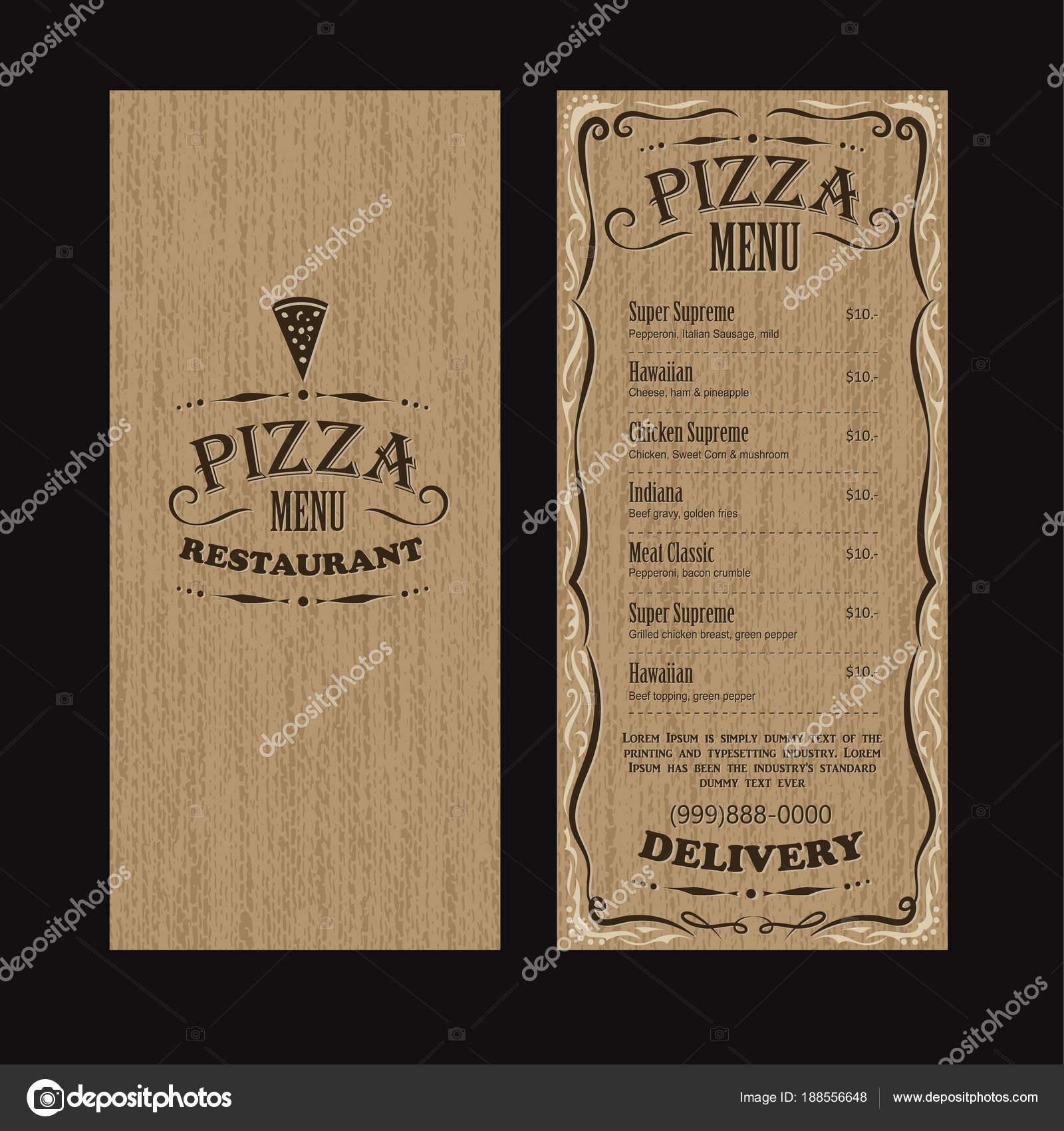 diseño de plantilla de folleto menú vintage restaurante comida ...