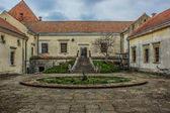 Fotografie Innenhof in der alten Burg in der Region Lwiw