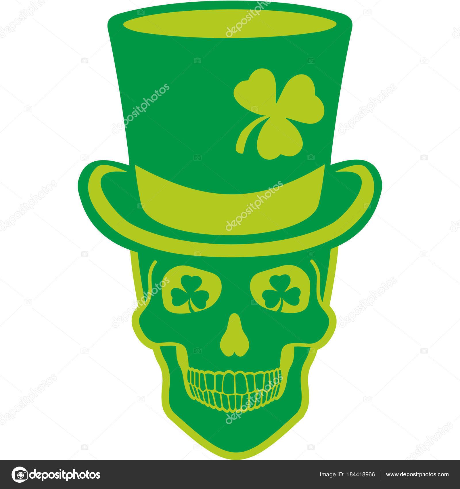 d049781d Irish Coat Arms Skull Clover Grunge Vintage — Stock Vector © amid999 ...