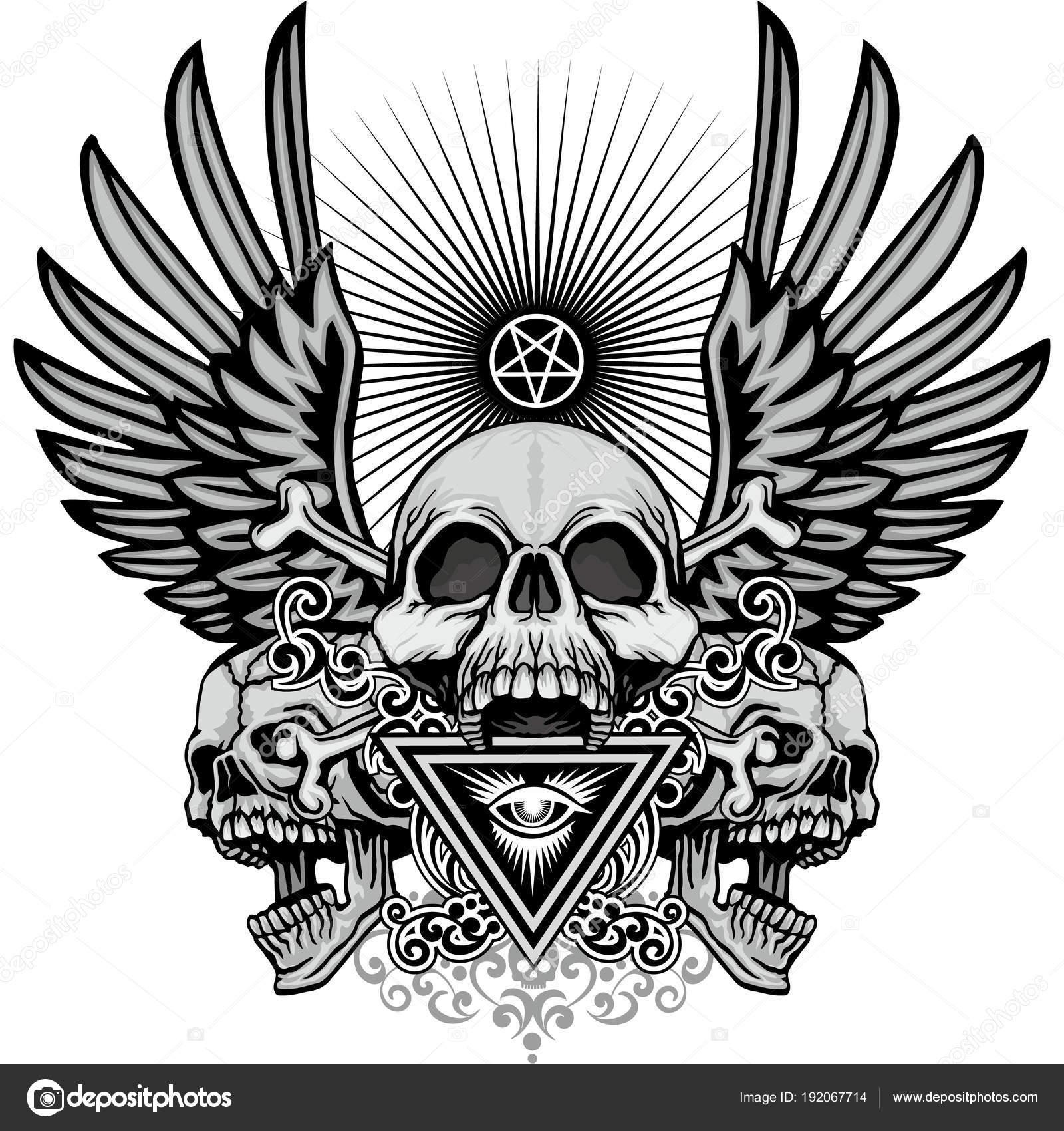 Plantillas Para Tatuajes Dela Santa Muerte Escudo Gótico Con