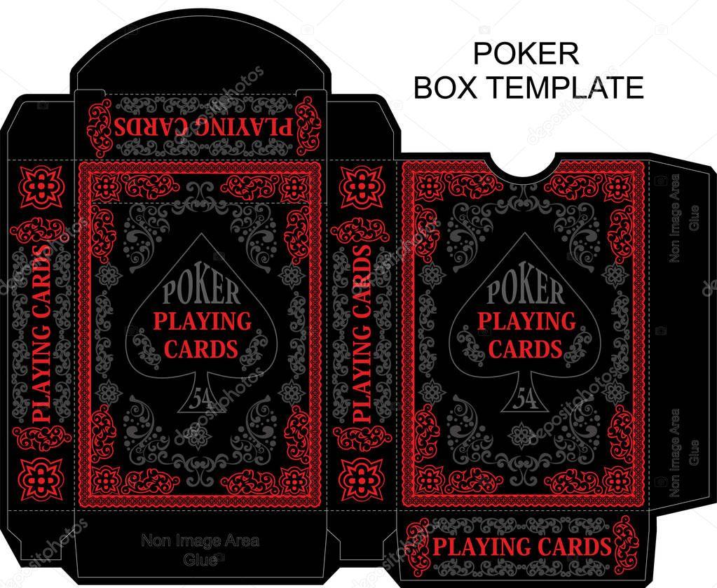✓ Box template, poker,playing card premium vector in Adobe In Playing Card Template Illustrator