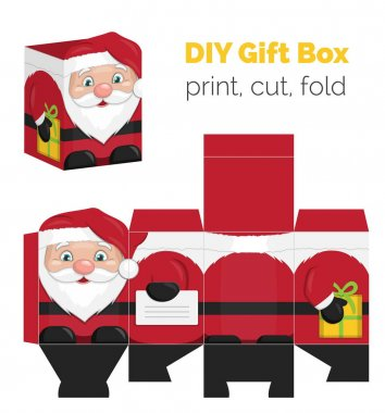 Christmas DIY santa shaped gift box