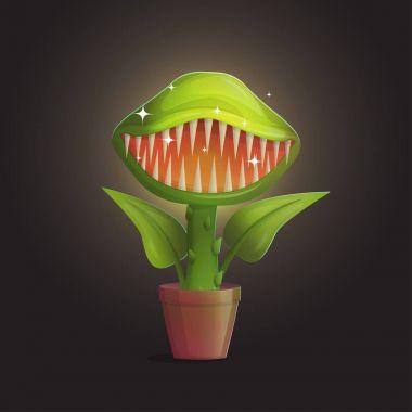 Venus flytrap flower carnivorous plant illustration