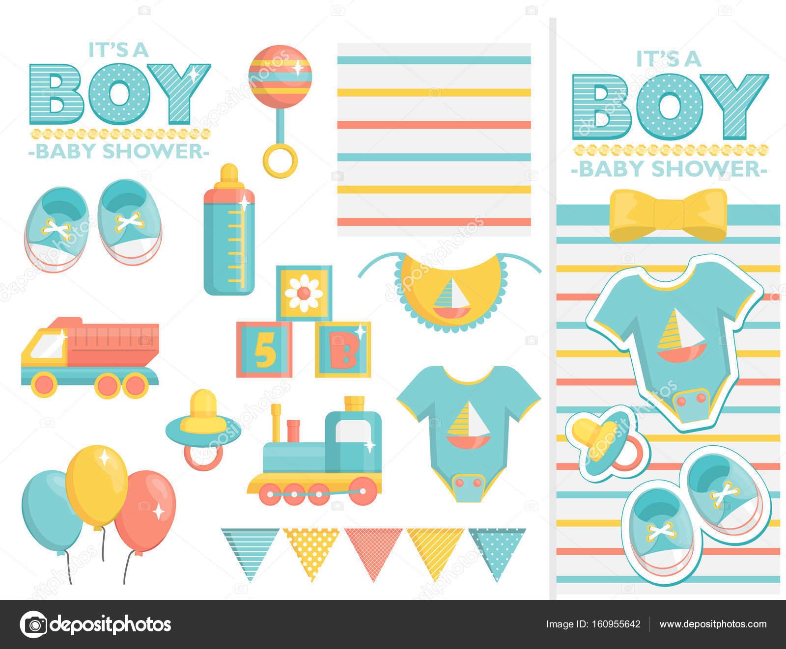 Invitacion Baby Shower Virtual Es Un Conjunto De Ducha De