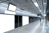 Photo Blank promotion banner display on the wall indoor,advertising in