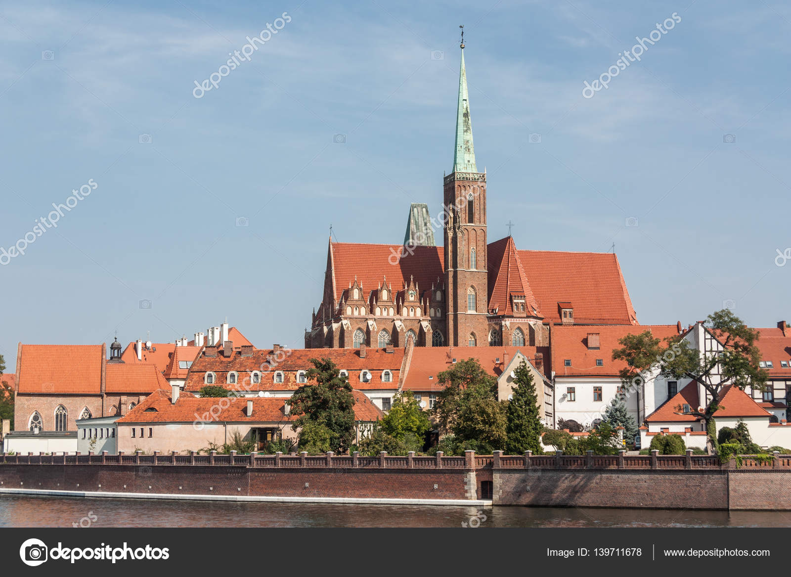 View Of The Church Holy Cross City Wroclaw Poland Country