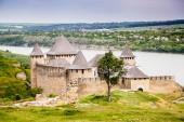 Khotyn Fortress, Ucraina - 28 maggio 2017. Khotyn fortificazione situata sul puntello del Dnestr