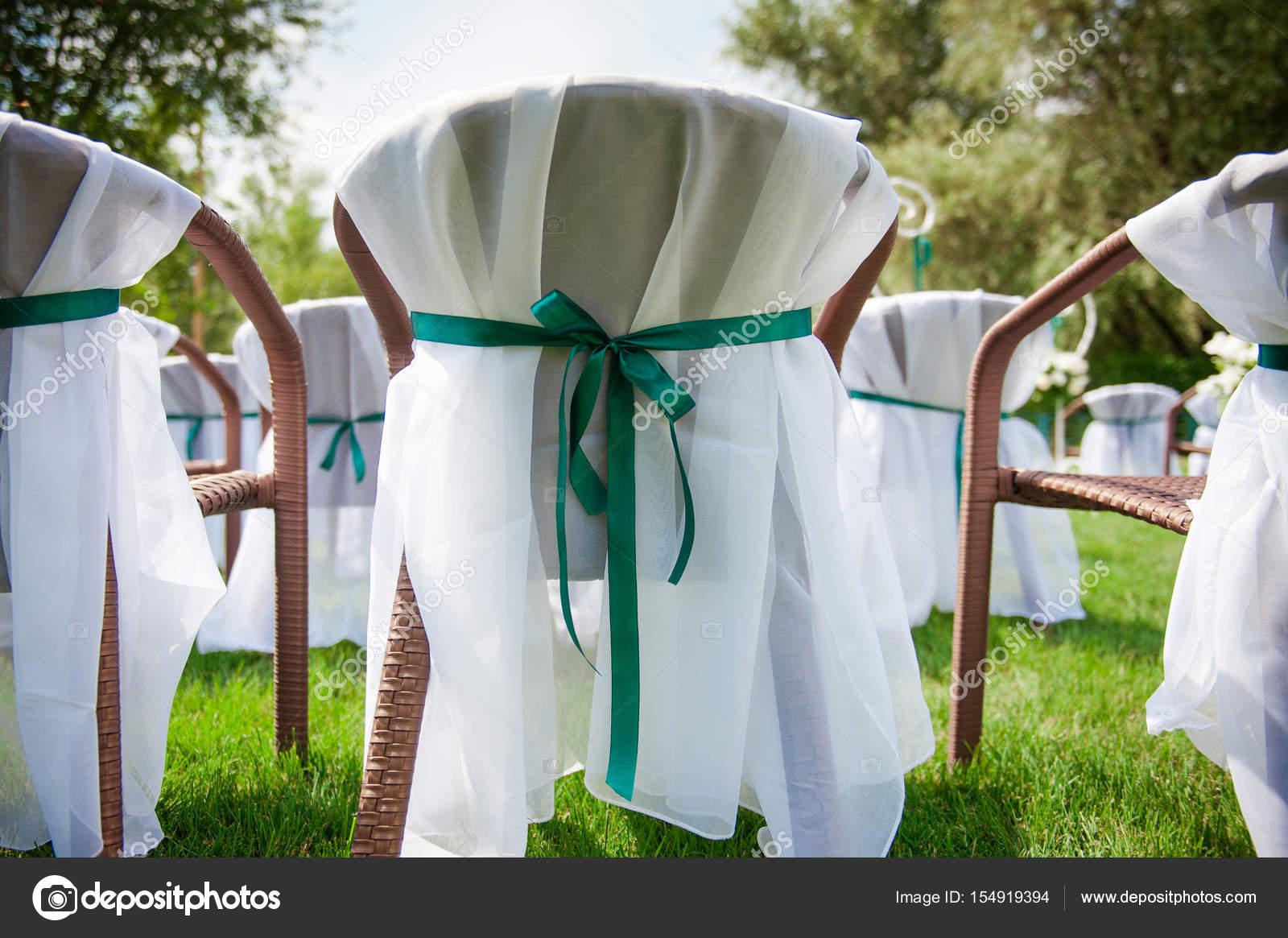 Wunderschon Dekoriert Hochzeitsfeier Im Freien Hochzeit Dekoration
