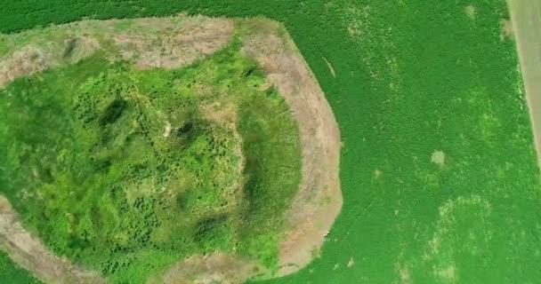 Scénický pohled na pohřební mohylu Šalokhy z cythského krále, letecký pohled.