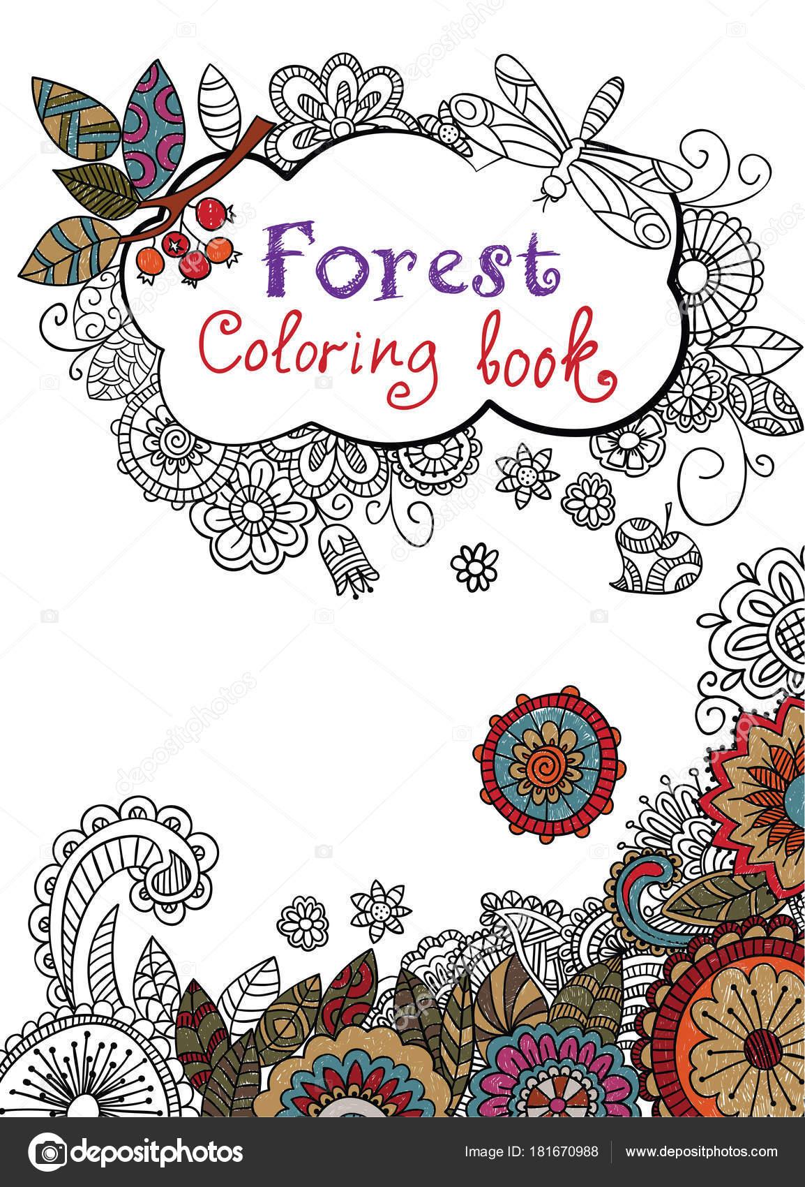 Cubierta de libro para colorear — Vector de stock © NatalieBakunina ...