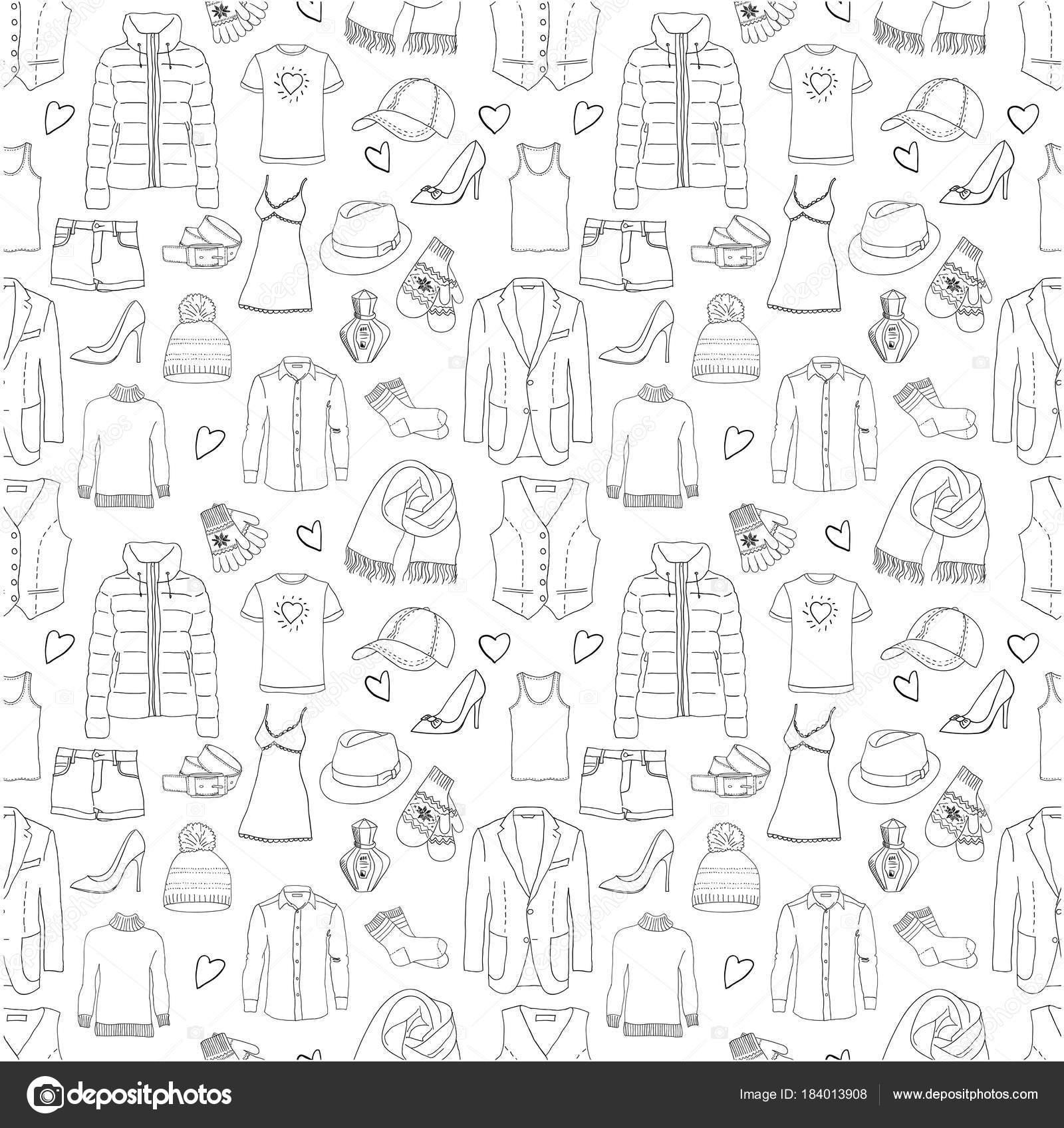 patrón sin costuras ropa — Vector de stock © NatalieBakunina #184013908