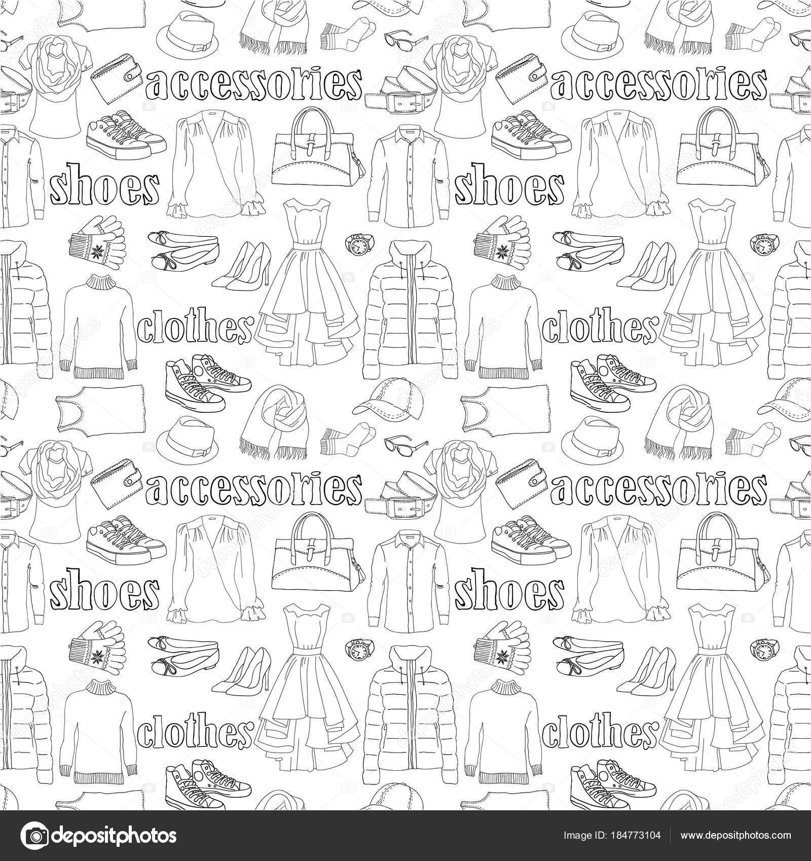 patrón sin costuras ropa — Vector de stock © NatalieBakunina #184773104