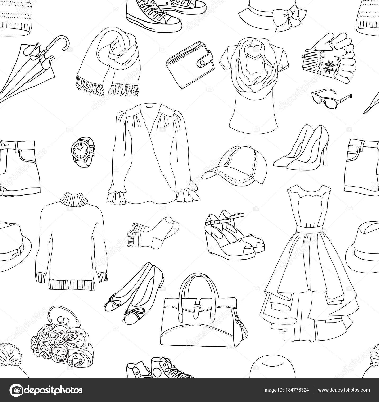 patrón sin costuras ropa — Archivo Imágenes Vectoriales ...