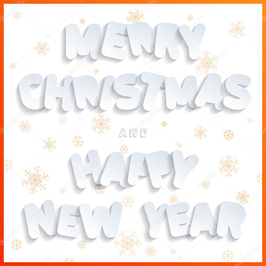 Prettige Kerstdagen En Gelukkig Nieuwjaar Platte Ontwerp Lettertype