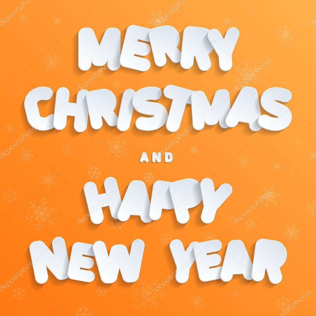 Prettige Kerstdagen En Gelukkig Nieuwjaar Lettertype Voor Platte