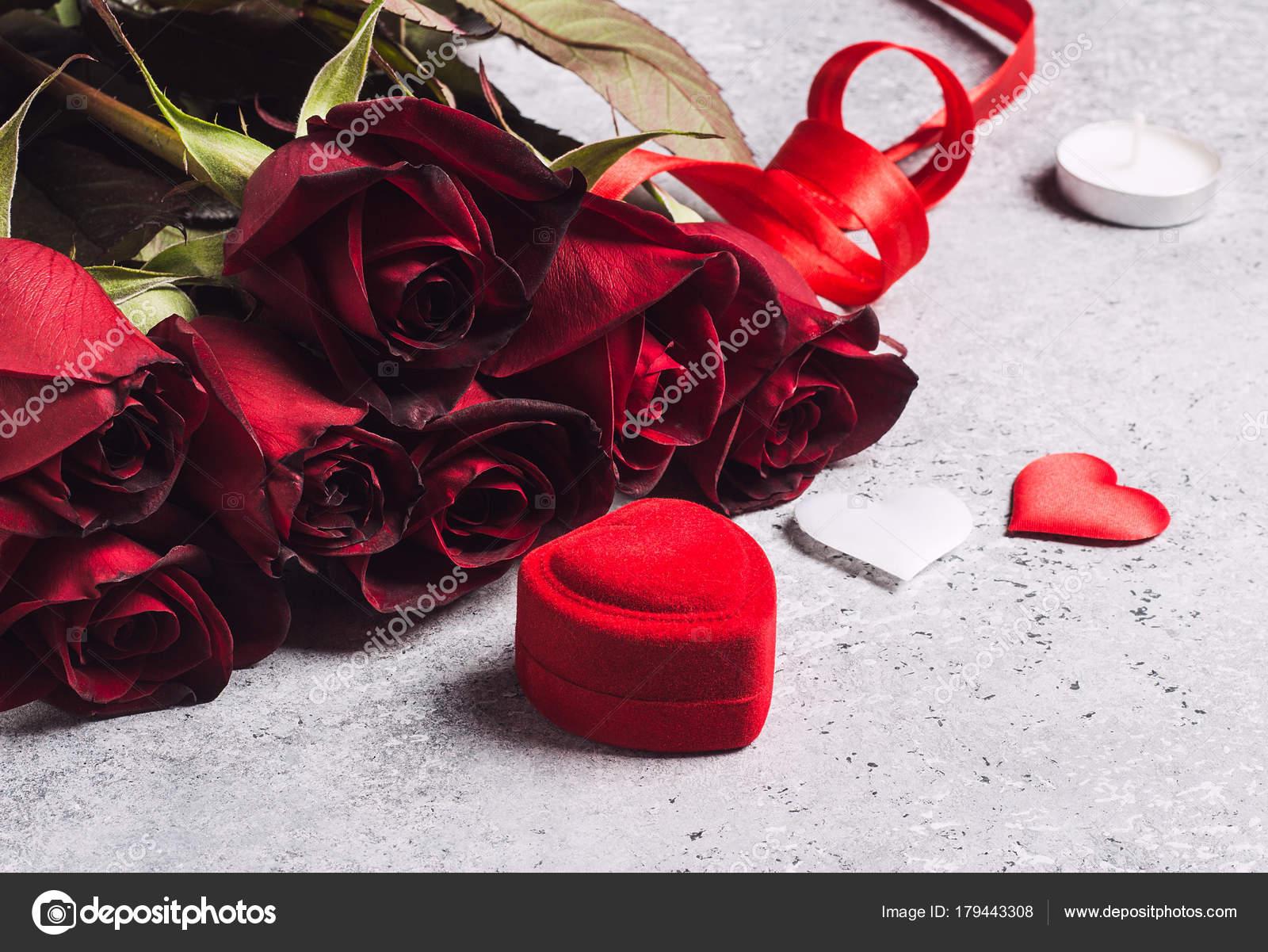 Valentijnsdag Met Me Trouwen Bruiloft Verlovingsring Doos