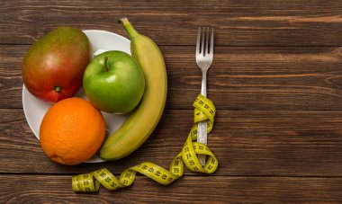 Healthy eating, dieting, slimming and weigh loss concept. Diet concept