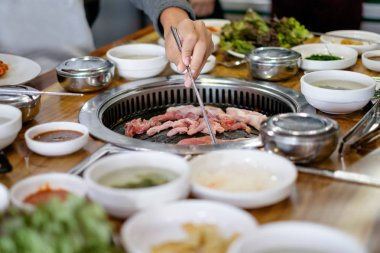 Korean Grilled Pork and Beef BBQ