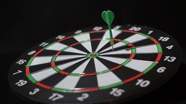 Arrows aim at the target. Darts.