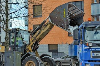 Snow removal in Helsinki