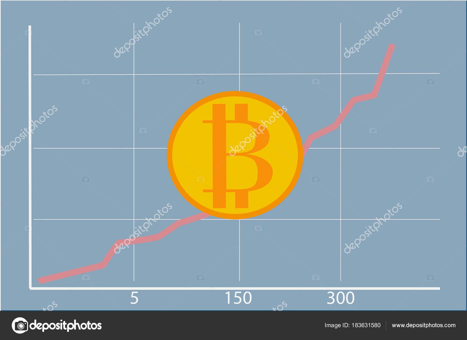 Schematische Karte Der Bitcoin Preis Wachstum — Stockvektor ...