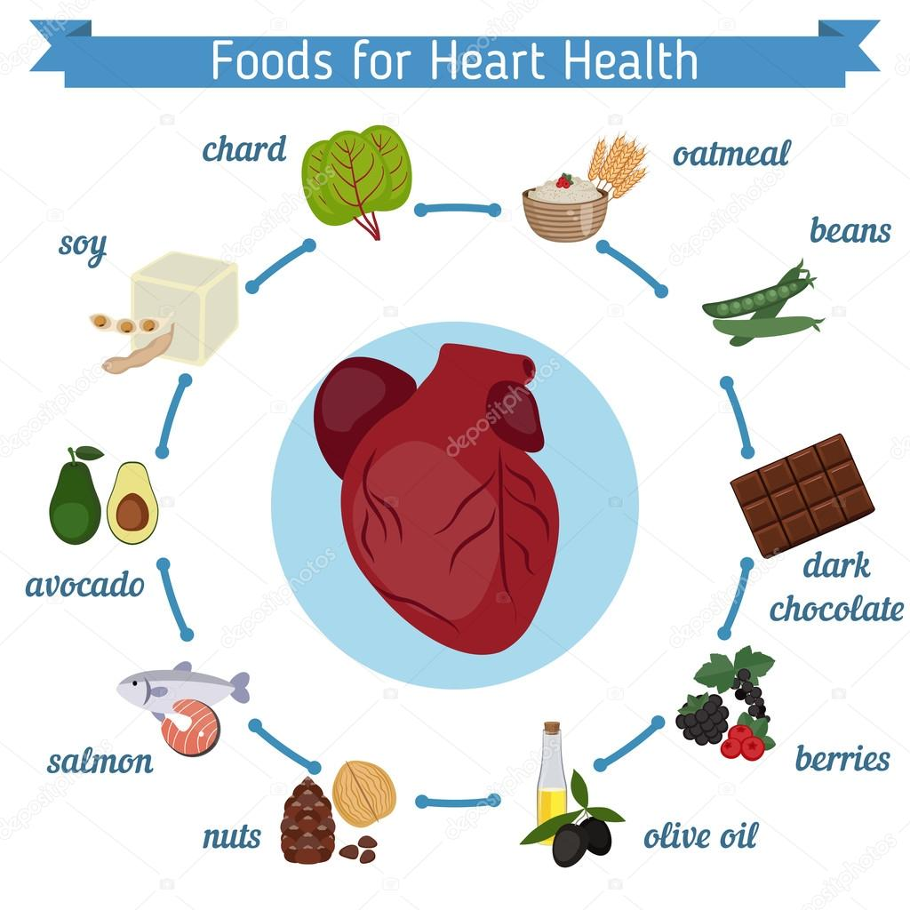 Healthy heart foods infographics stock vector ninamunha 126145974 healthy heart foods infographics stock vector ccuart Choice Image