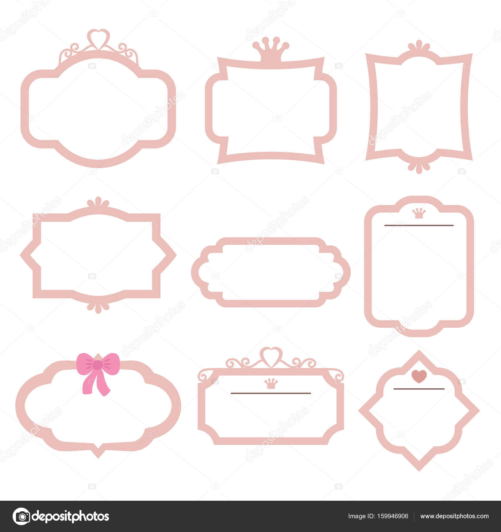 Conjunto de marcos decorativos archivo im genes - Marcos decorativos ...
