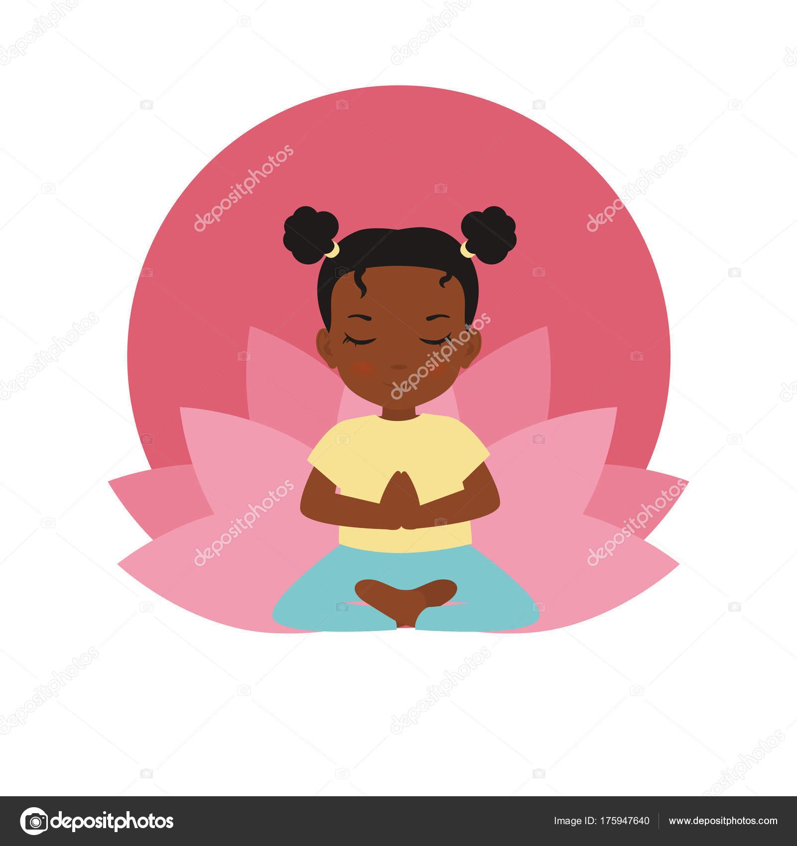 Logo de yoga niños — Vector de stock © NinaMunha #175947640
