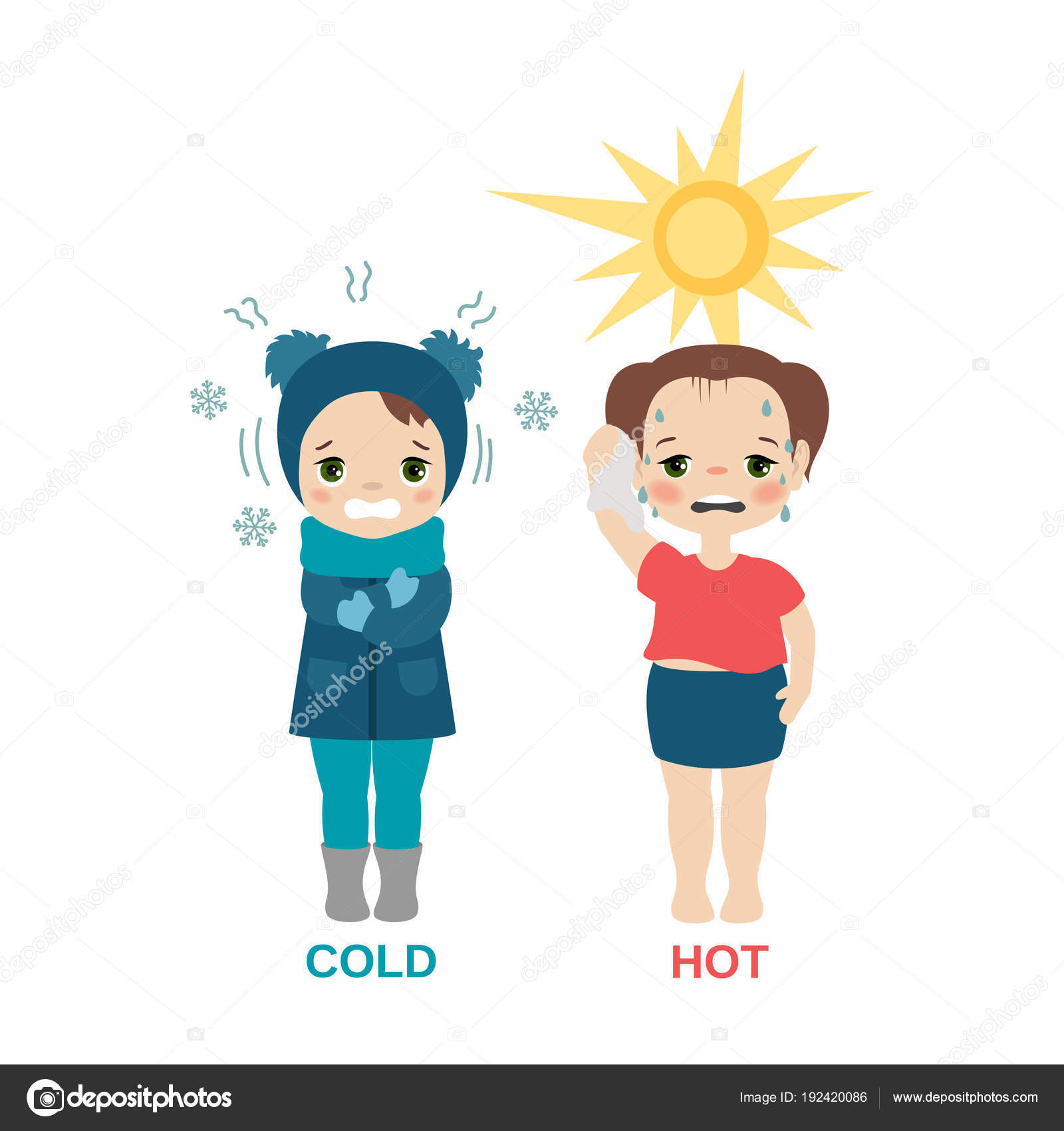 girl hot and cold