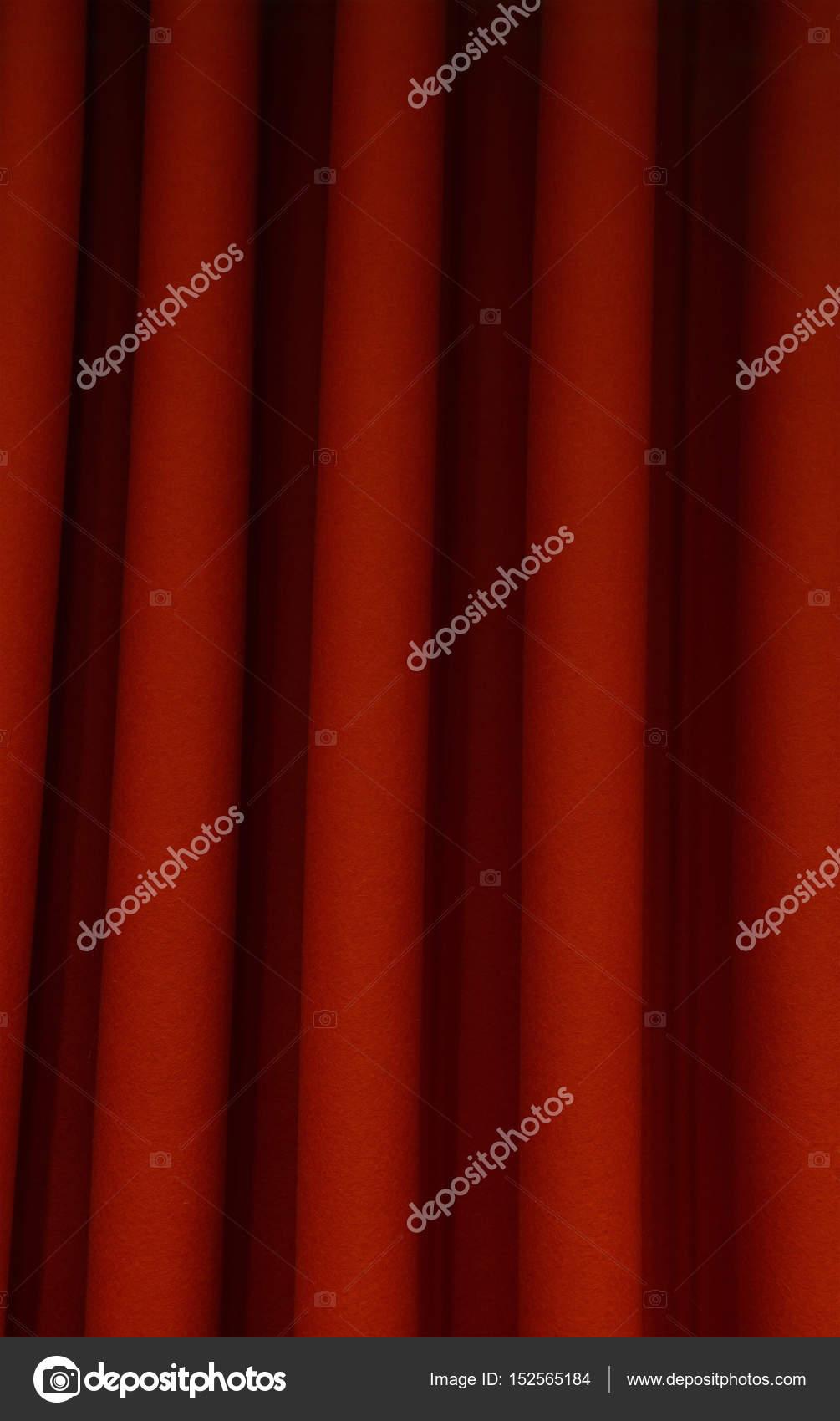 Schwere Dunkelrot Plissee Filz Vorhang Hintergrund