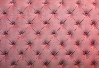 Pink capitone tufted fabric upholstery texture