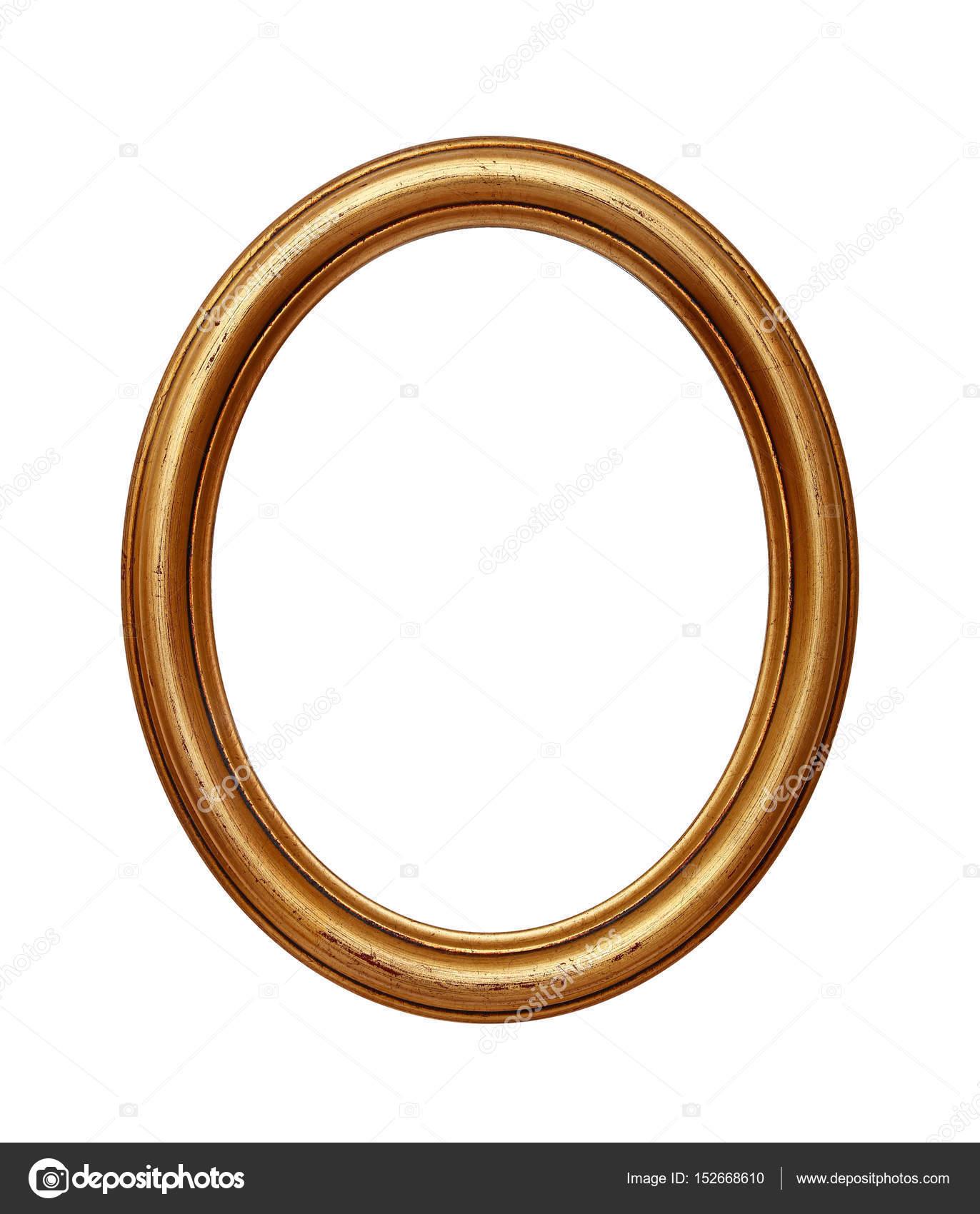 Vintage golden Oval Runde Bilderrahmen — Stockfoto ...