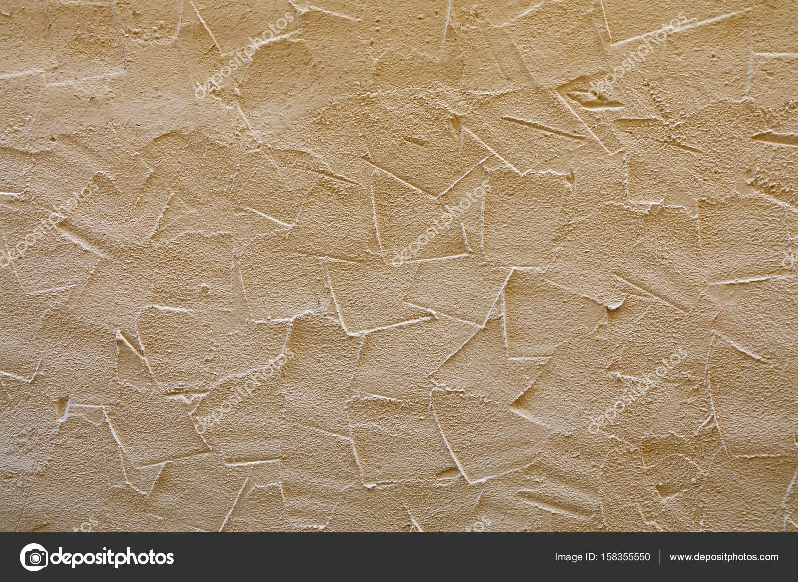 Beżowej ściany Wytłoczona Tynki Dekoracyjne Zdjęcie