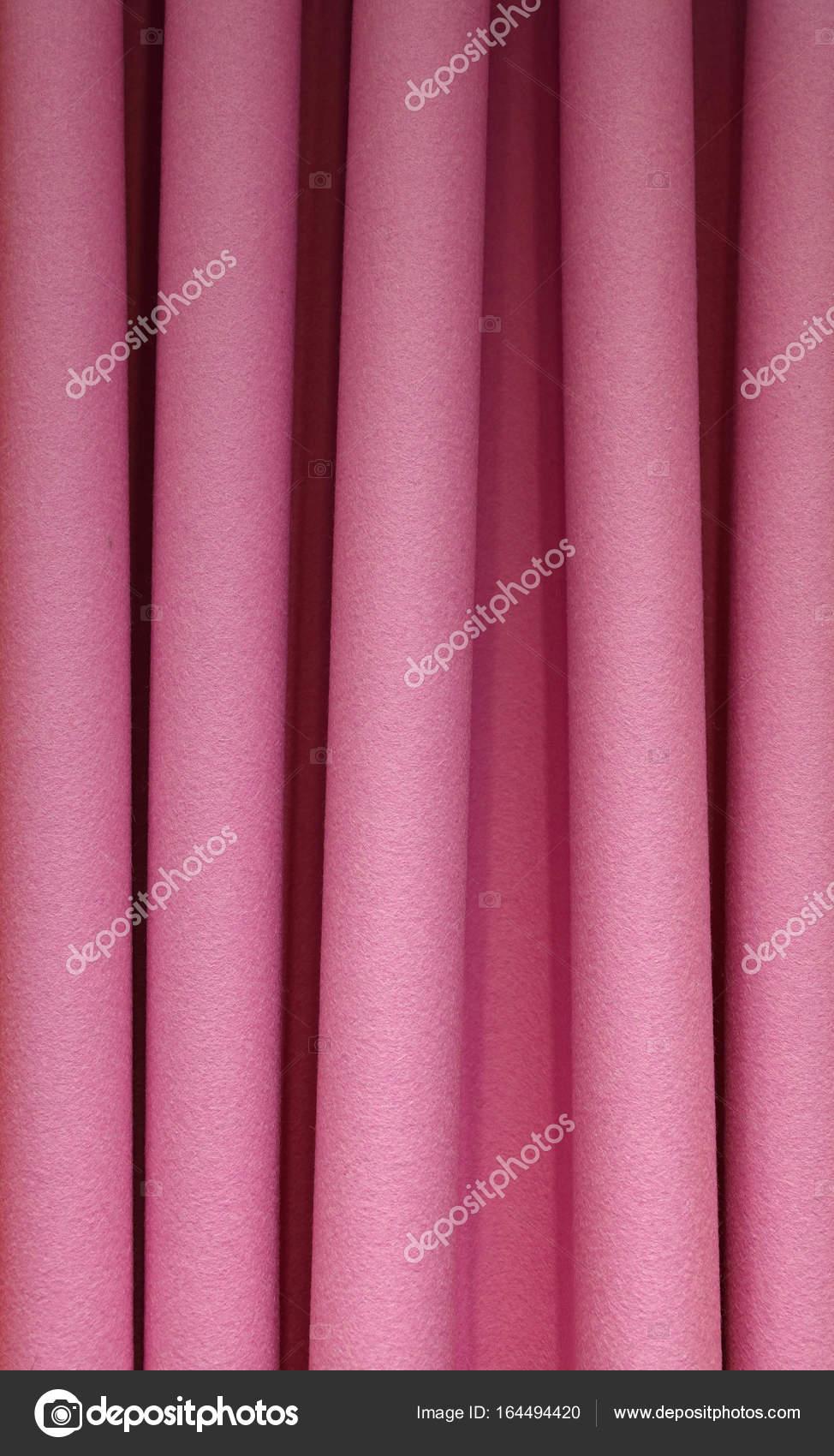 Schwere Rosa Filz Plissee Textil Vorhang Hintergrund