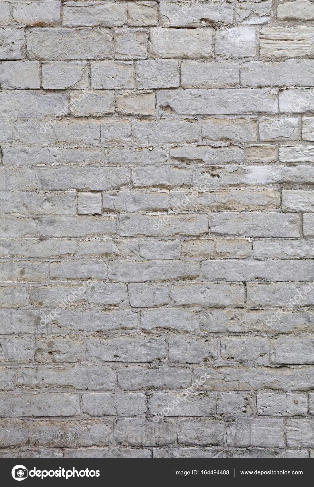 Mur de briques Pierre de travertin blanc adarce — Photographie ...