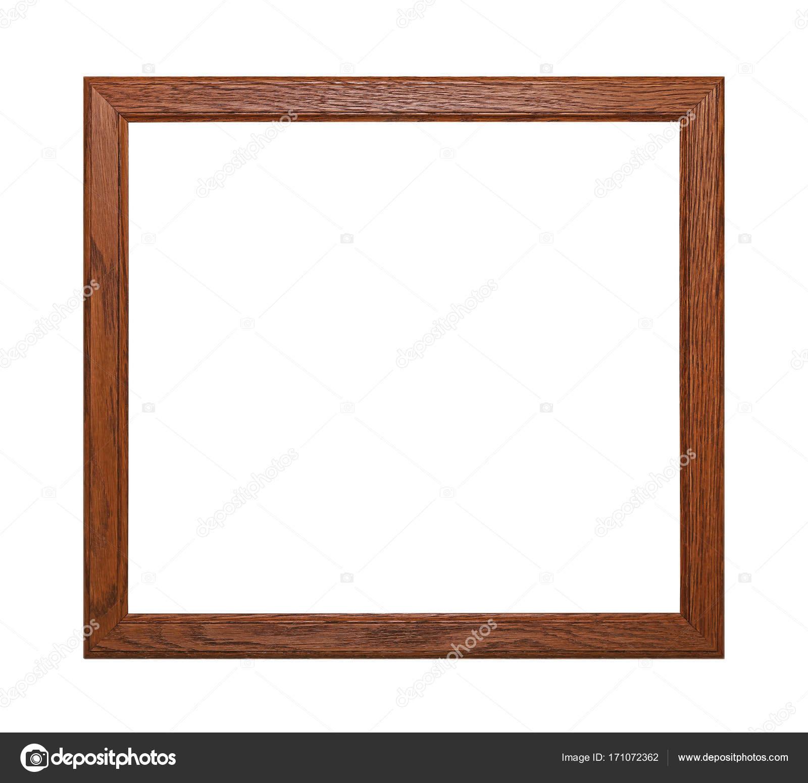 Simple marco de cuadro o foto marrón madera — Fotos de Stock ...