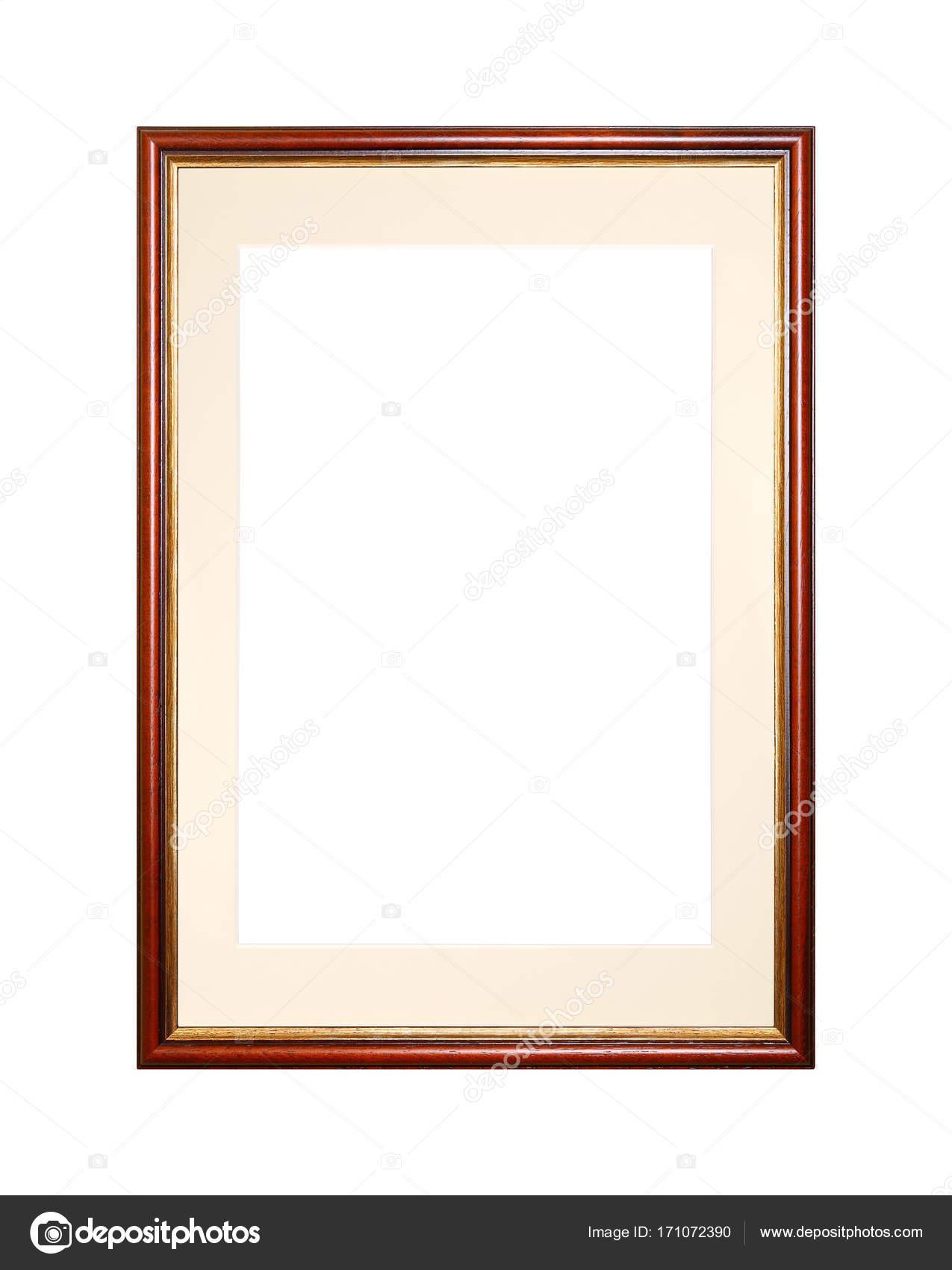 Marco de imagen o foto marrón con estera de cartón — Fotos de Stock ...