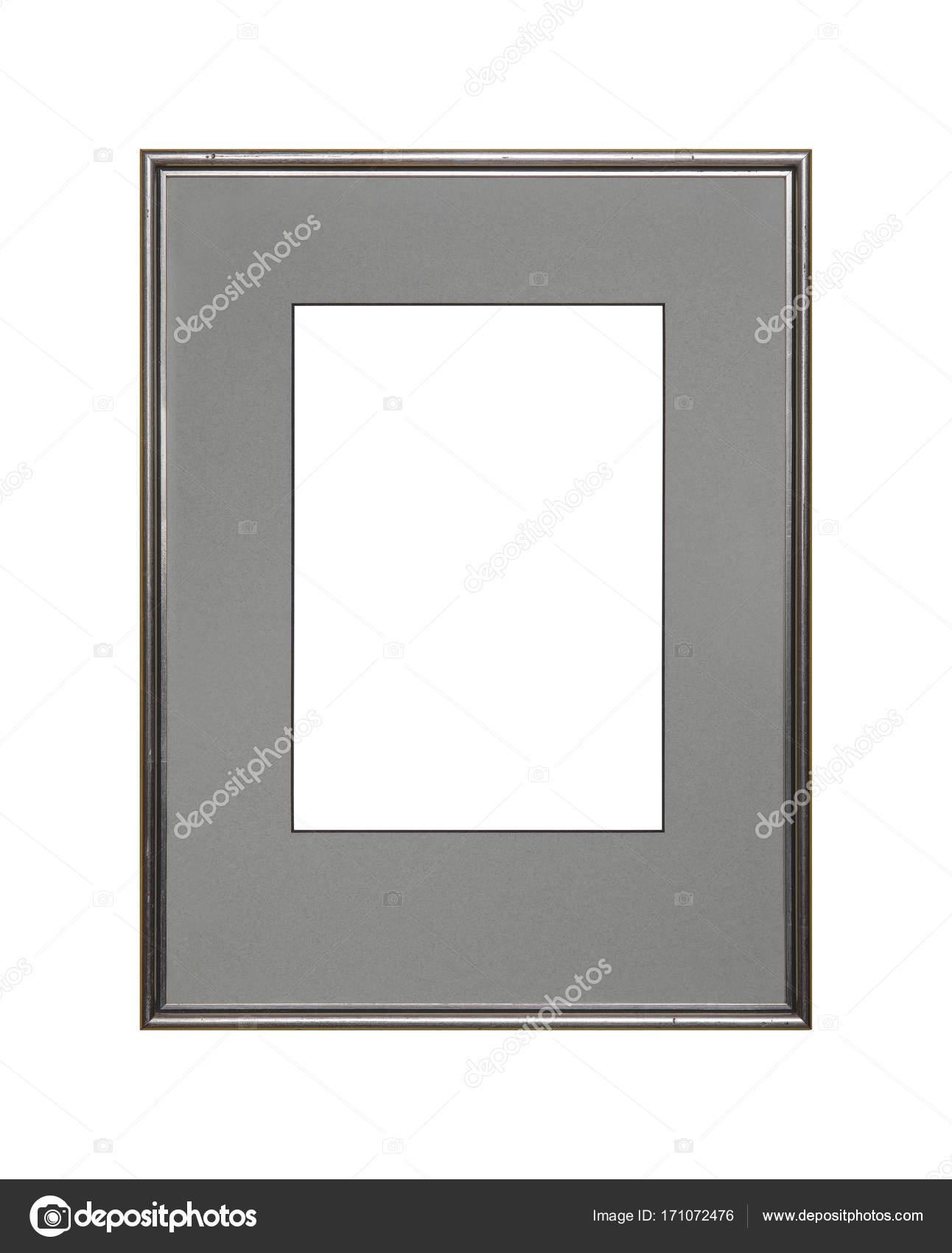 Marco de plata imagen o foto con la estera de cartón — Foto de stock ...