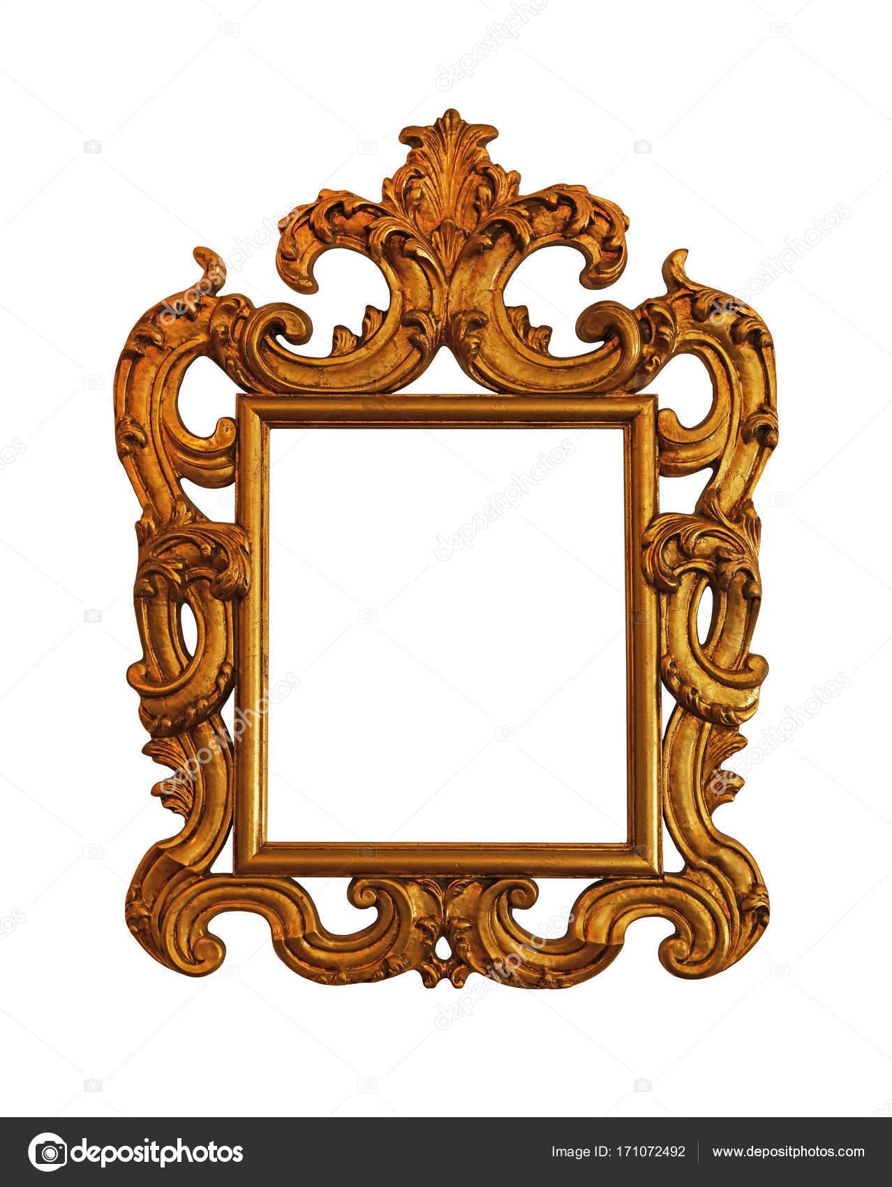 Antiguo marco cuadro foto o espejo dorado fotos de for Marco cuadro antiguo