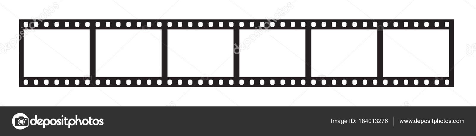 Seis marcos de tira de película de 35 mm — Archivo Imágenes ...