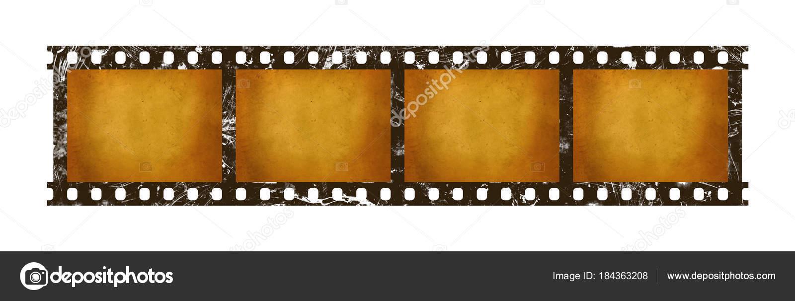 Marcos viejos de tira de película retro vintage 35 mm — Foto de ...