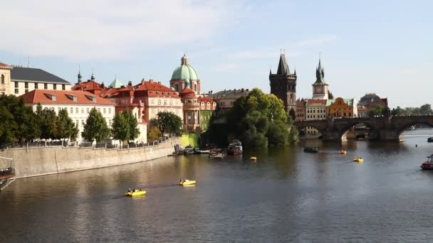 View of Prague old town and Charles Bridge