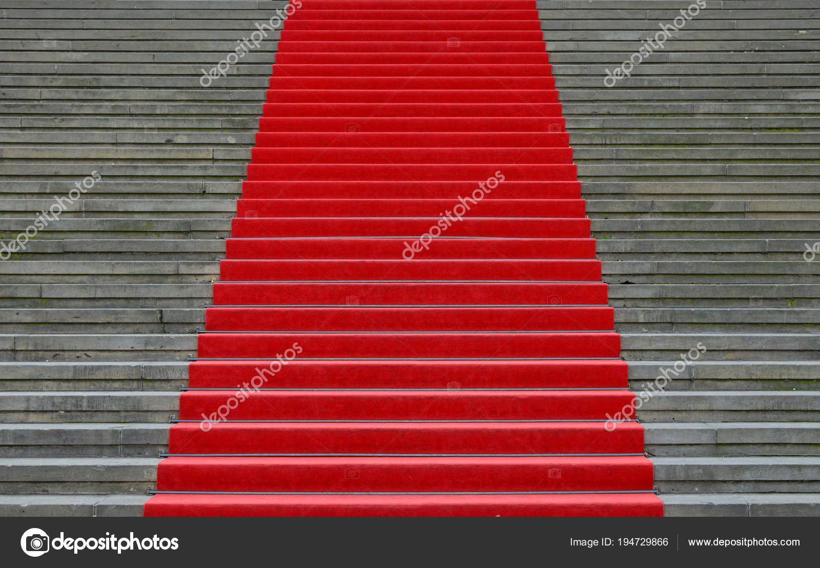 Czerwony Dywan Ponad Perspektywy Schody Betonowe Zdjęcie