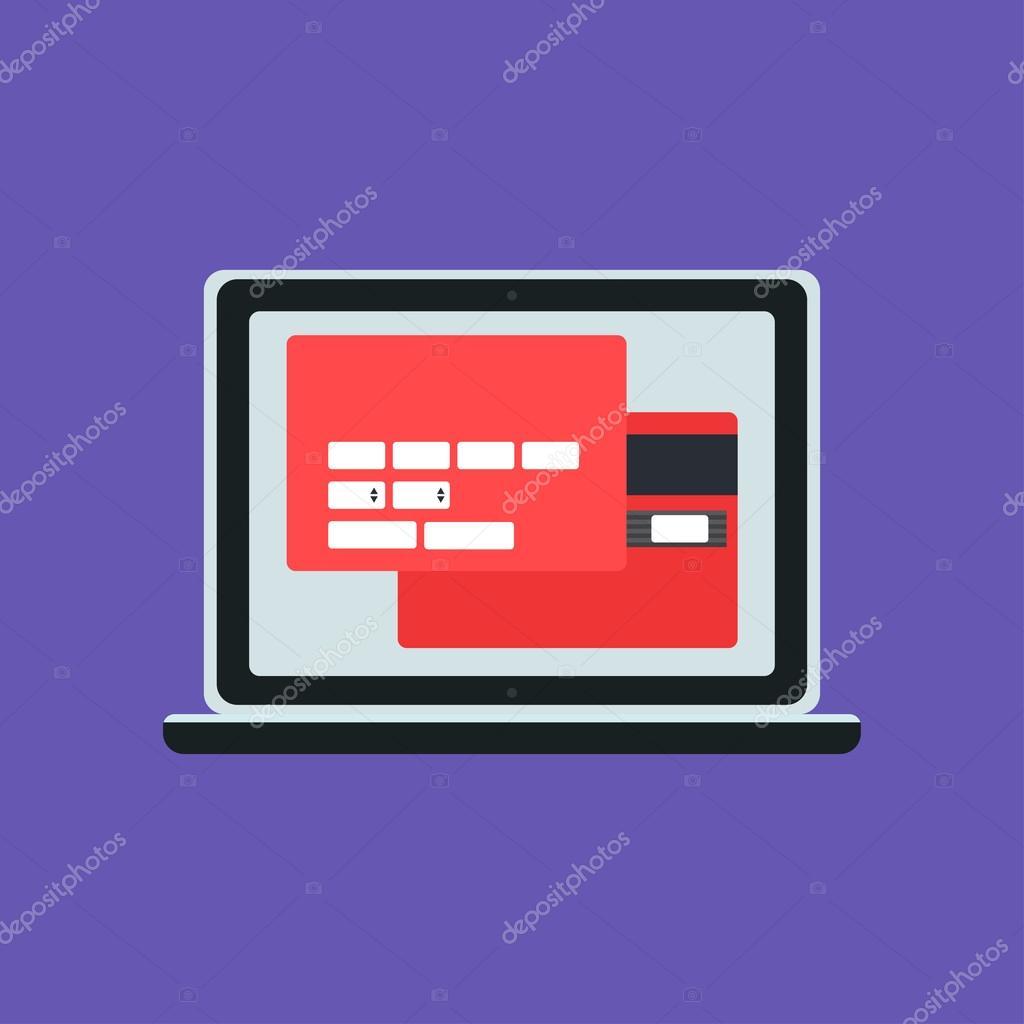 Plantilla Web de ordenador forma de compras en línea — Archivo ...