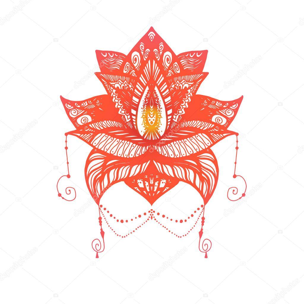 Diseños De Flores De Loto Para Tatuajes Tatuaje De Flor Loto