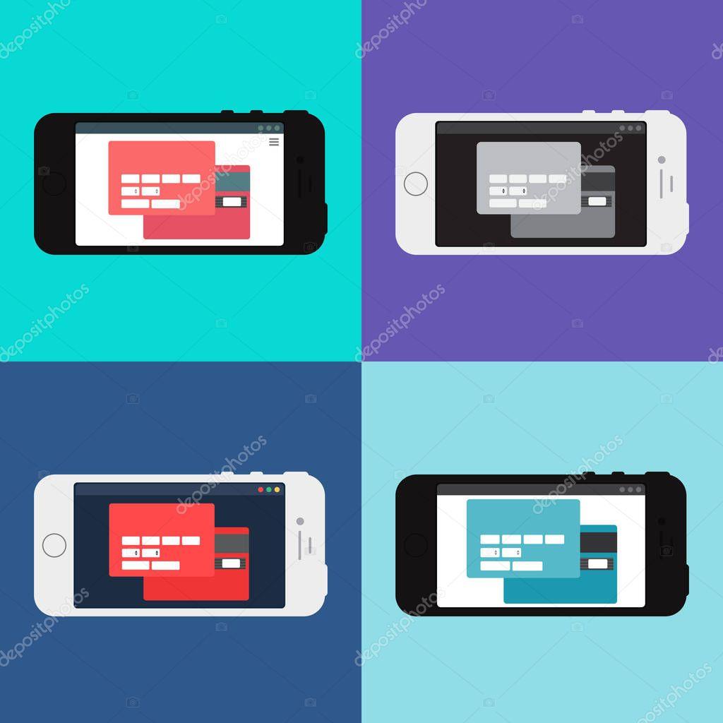 Plantilla Web de formulario de compras en línea de Smartphone ...