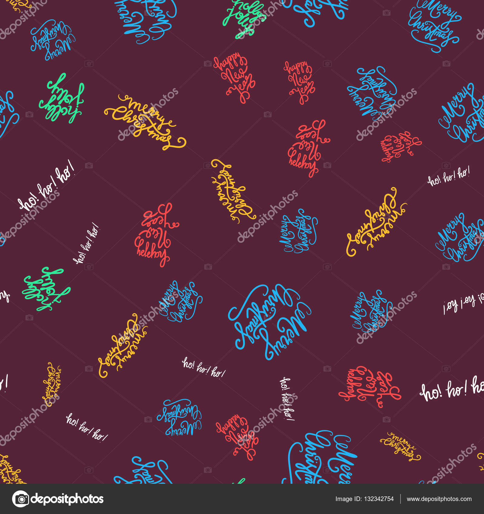Frohe Weihnachten nahtlose Muster — Stockvektor © barsrsind #132342754